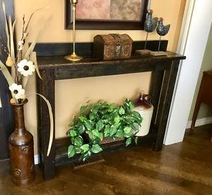 Hall / Foyer Table - hand made rustic reclaimed wood