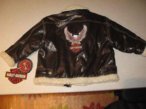 Harley Davidson fur lined Jacket - 4T