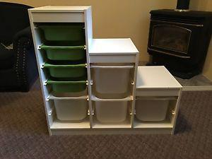 IKEA Trofast Kids storage unit with bins