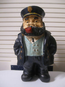 JUST an OLD WEATHERED SEA CAPTAIN with SAILING SHIPS on HIS