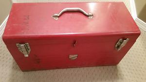 Large Red Vintage Beach Tools Kit