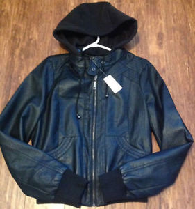 ******NEW******Black Faux Leather Jacket******