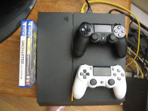 PS4 w/ 2 Controllers and games 350 o.b.o.