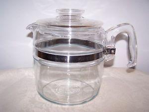 PYREX 6 CUP COFFEE / TEA POT - NO INSIDES GREAT FOR TEA