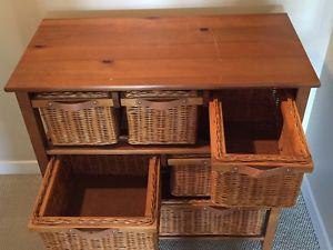 Pine Basket Dresser / Drawers, great condition