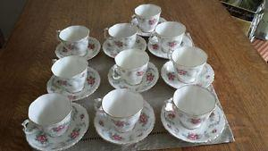 Royal Albert Tranquility teacups & saucers  or $12