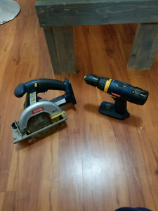 Ryobi One+ Circular Saw and Drill 18v. Trade for jigsaw.