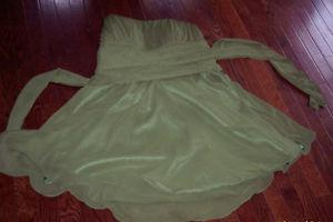 Sage green prom dress size large