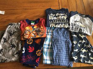 Sz 8 - 10 boys pyjamas, 2-3 x winter, and one pair of summer