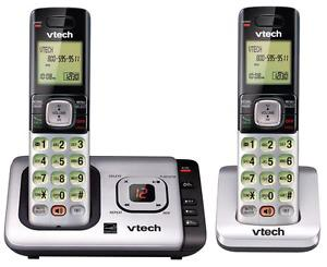 VTech 2 Handset Cordless Answering Phone System with Caller