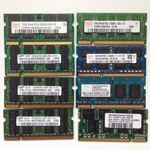 Various laptop Ram memory lot for sale