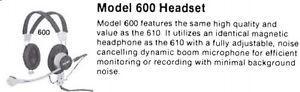 Vintage headphones w/ microphone Telex 600