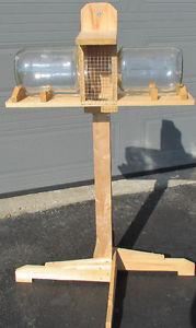 Virtually Birdproof Squirrel Feeder on Stand - made of Cedar