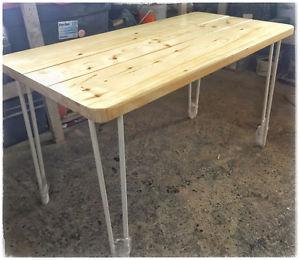 White hairpin leg desk