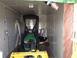 landscape/ snow removal,John Deer snow blower and seacan