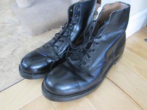leather steel toe boot - shoe