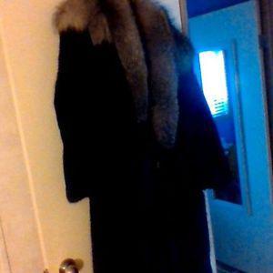womens black pearl mink coat