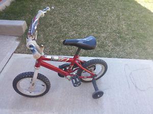 "12"" Boy's Bike with training wheels"