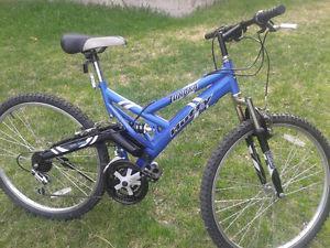 21 speed Huffy mountain bike, full suspension