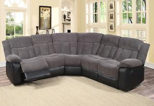 3 Piece Reclining Sectional, New in Box