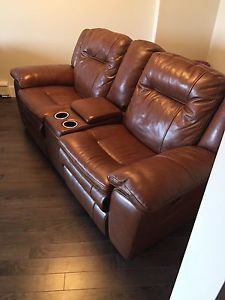BRAND NEW LEATHER RECLINER COUCH SET