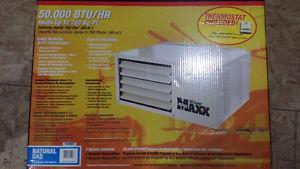 "BTU Natural Gas Heater and 4"" Verticat Vent Kit"