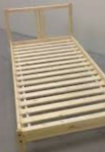 Bed frame for single/double bed