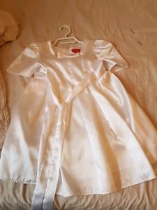 Girls size 5 white dress