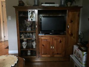 Handmade Solid Wood Entertainment Unit