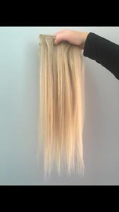 Human hair blonde extensions for sale