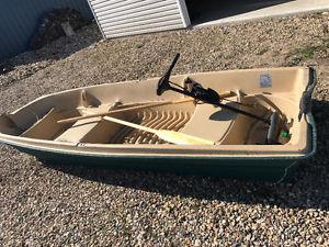 Jon boat and Minkota motor