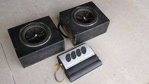 """Kicker Comp 10"""" inch round subs and Accoustic 400SE Amp"""