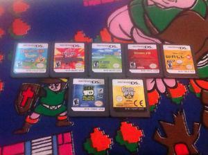 Lot of seven Nintendo DS 3DS game cartridges #5(7 carts)
