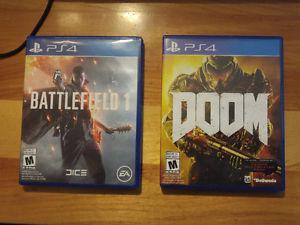 PS4 battlefield 1 $40 or Doom $30