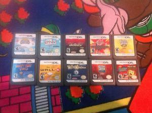TEN Nintendo DS 3DS game carts lot #7(10)