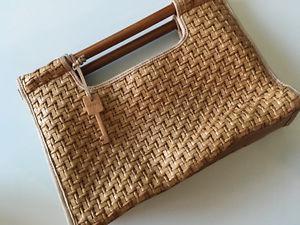 Vintage Fossil Bamboo Handbag