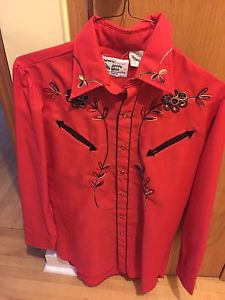 Vintage Johnny West Cowboy western shirt Sz small