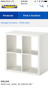 Wanted: Looking for white IKEA Kallax 2x2