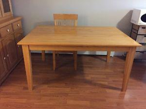 Wheatons Dining room table and four chairs