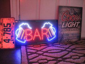 light - up bar sign