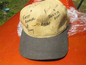 signed golf cap