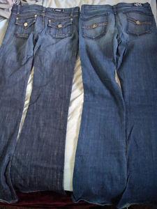 2 pair Rock& Republic jeans size 27- great condition!