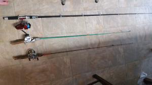 3 Fishing Rods 2 Vintage Selling as a set Taking best offer