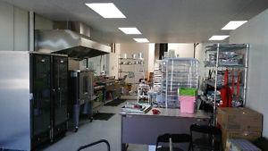 AHS approved commercial kitchen for rent in July and August