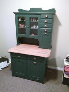 Antique Hoosier cupboard