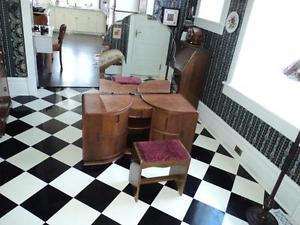Antique Oak Art Deco Dresser