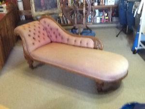 Antique Victorian Chaise Lounge