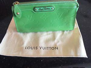 Authentic Louis Vuitton Green Cosmetic Pouch or Clutch