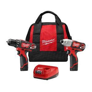 BRAND NEW MILWAUKEE M12 Drill Driver and Impact Driver kit