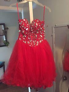 Beautiful red prom dress